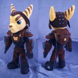 Ratchet in Marauder Armor plushie by adamar44