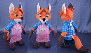 Gideon Grey from Zootopia plushie by adamar44