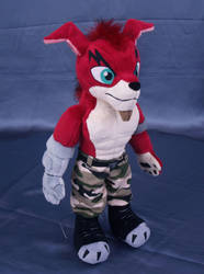 Crunch Bandicoot plushie by adamar44