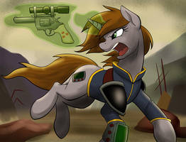 Littlepip Going Pew-Pew by Acesential