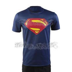 Superman Man of Steel Blue T-Shirt by moviescostume