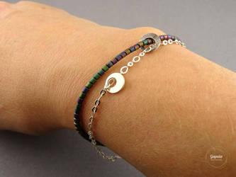 Hematite bracelet Organic by Gapulahandmade