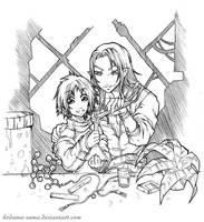 Commision Irian and Dhirgan by Kodama-sama