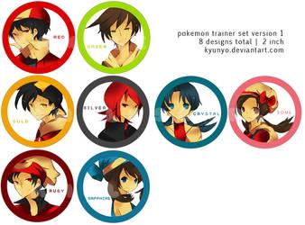 Pokemon Buttons 2012 by kyunyo