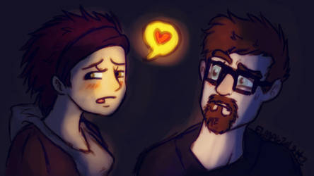 gordon freeman and alyx vance....Happy Valentine's by hummeri9