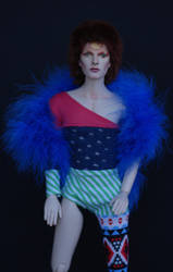 David Bowie as Ziggy Stardust with iconic unitard by dollsbydell