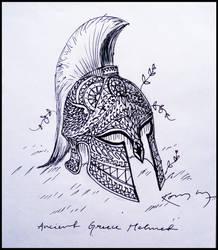Greece Helmet [doodle] by 7anbuKakashi
