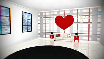 [MMD/DL] Tartan Check Room ! [stage/dl] by BrightShadowMMD