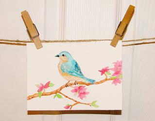 Blue Bird by bummblebird