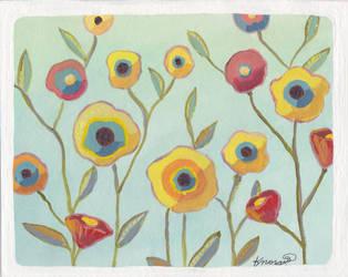 Pansies by bummblebird