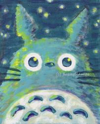 Totoro At Night by bummblebird