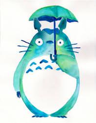Totoro Watercolored by bummblebird