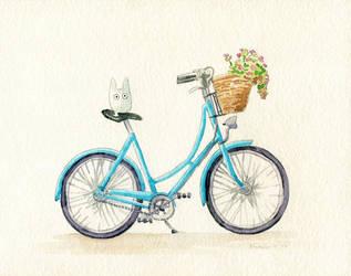 Totoro: Raise a Bike by bummblebird