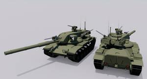 Alternate History M60A2-70 Patton Starship Refit by TheoComm