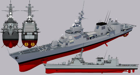 Justice-class Destroyer 1990 refit by TheoComm