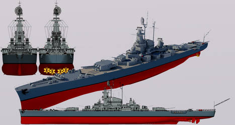 Cavalier-class Heavy Cruiser Post 1942 Refit by TheoComm