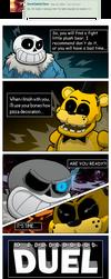 Sans vs Golden Freddy... DUEL!!!! by Chopangigante