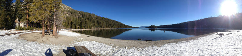 Emerald Bay Pano by Necroserpent