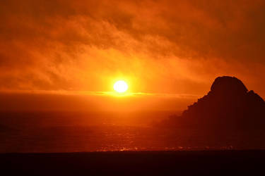 Setting sun by Necroserpent