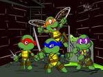 Teenage Mutant Ninja Turtles by NoDiceMike
