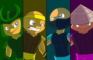 Samurai Salamanders by NoDiceMike