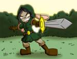 Cali swingin' her sword by NoDiceMike