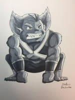 Inktober 2017 - Day 11 - Beast by NoDiceMike