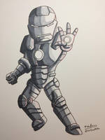 Inktober 2017 - Day 14 - Iron Man by NoDiceMike