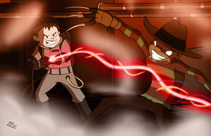Freddy vs Ghostbusters by NoDiceMike