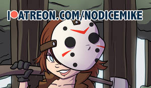 Jason Voorhees Bishoujo illustration on Patreon by NoDiceMike