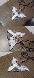 Warhammer 40k inspired medallion - commission by Zanten