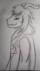 Asriel drawing by Silvy-draws