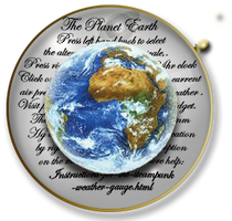 Steampunk Glass Earth Icon by yereverluvinuncleber