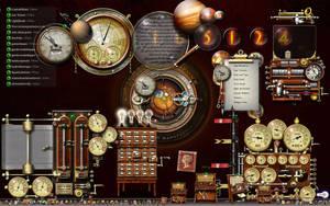 My Current Steampunk Desktop by yereverluvinuncleber