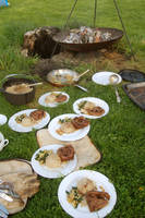Cooking in the garden on our firepit by yereverluvinuncleber