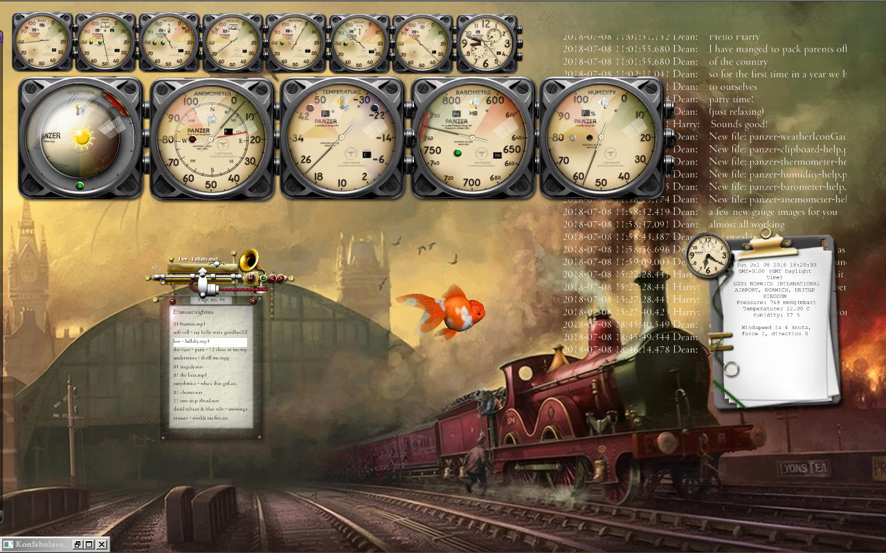 Current desktop - steamy with new gauges by yereverluvinuncleber