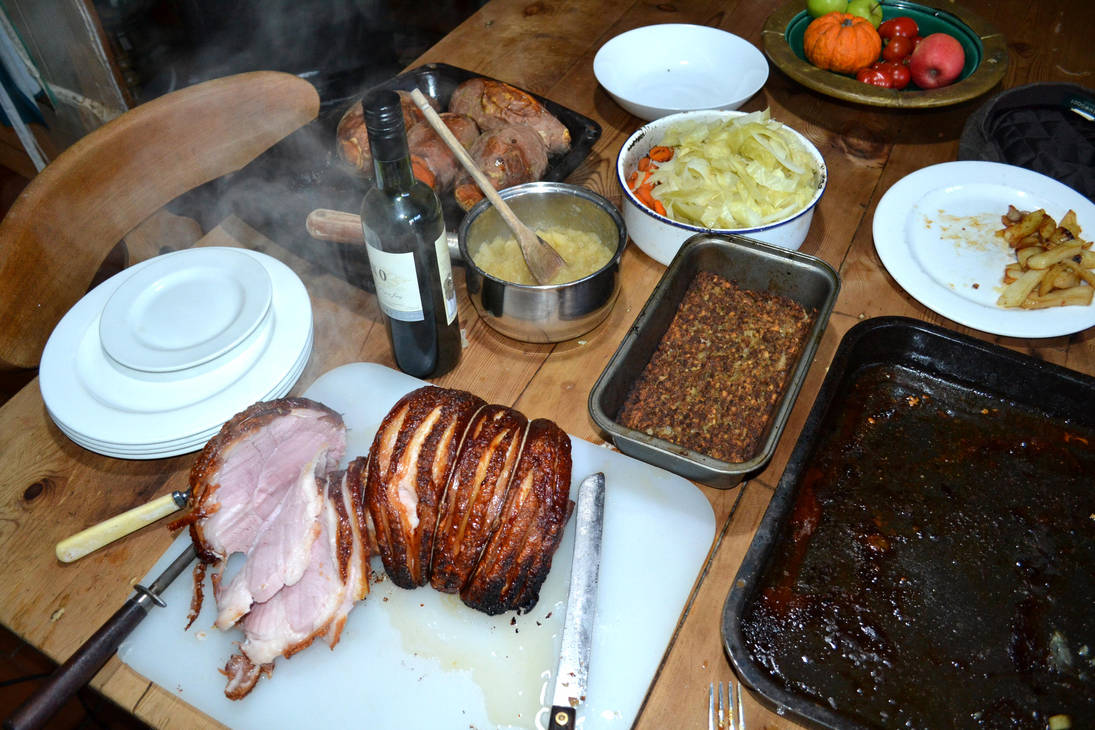 Gammon Ham Steaming Hot by yereverluvinuncleber