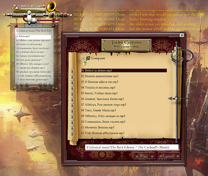 Medieval Total War Themed Folder Browser Skin by yereverluvinuncleber