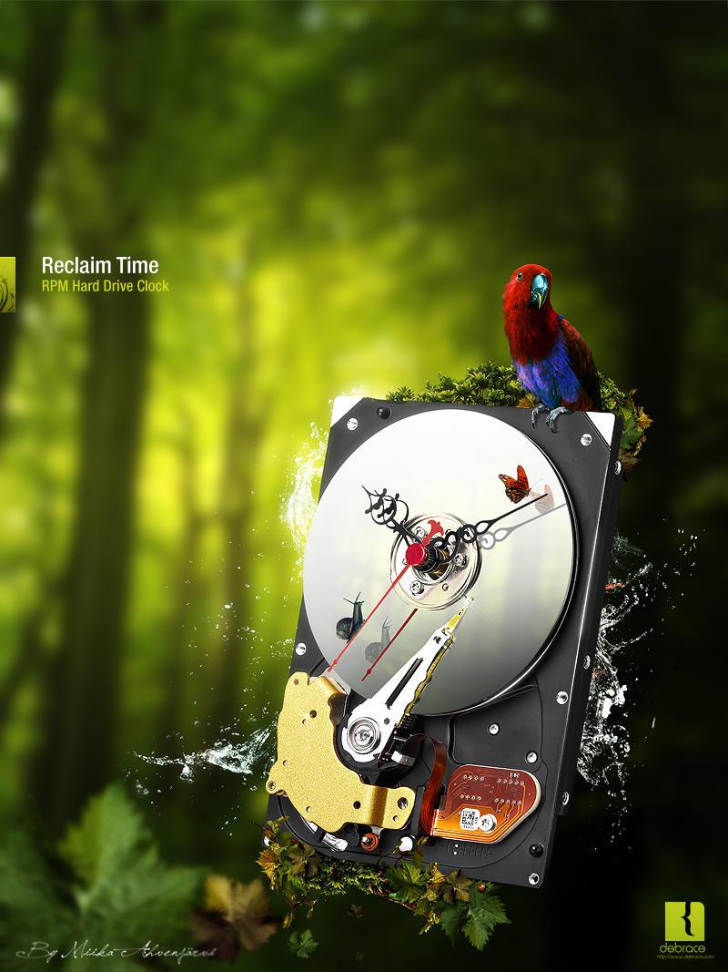 RPM HDD Clock -Advertisement by Uribaani