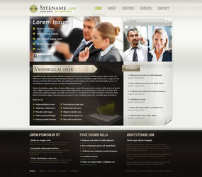 Business Template design by Uribaani
