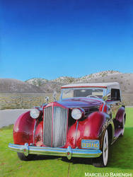 American Classic Car DRAWING by Marcello Barenghi by marcellobarenghi