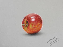 Apple DRAWING by Marcello Barenghi by marcellobarenghi