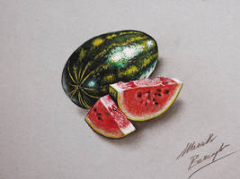 Watermelon DRAWING by marcellobarenghi
