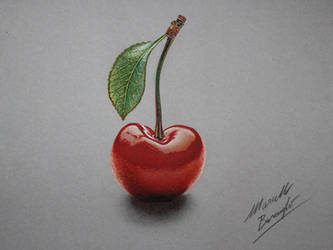Cherry DRAWING by Marcello Barenghi by marcellobarenghi