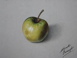 Yellow apple DRAWING by marcellobarenghi