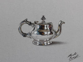 Little Teapot DRAWING by Marcello Barenghi by marcellobarenghi