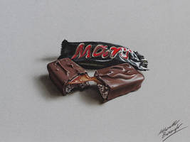 Mars Bar DRAWING by Marcello Barenghi by marcellobarenghi