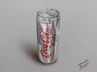 A can of Diet Coke DRAWING by Marcello Barenghi by marcellobarenghi