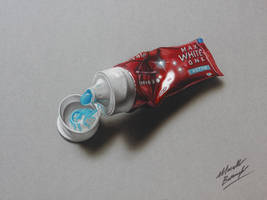 Toothpaste tube DRAWING by Marcello Barenghi by marcellobarenghi