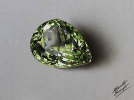 Lemon quartz DRAWING by Marcello Barenghi by marcellobarenghi